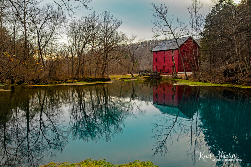 Alley Mill Reflection Photograph 1713 Missouri Photography Koral Martin Fine Art Photography