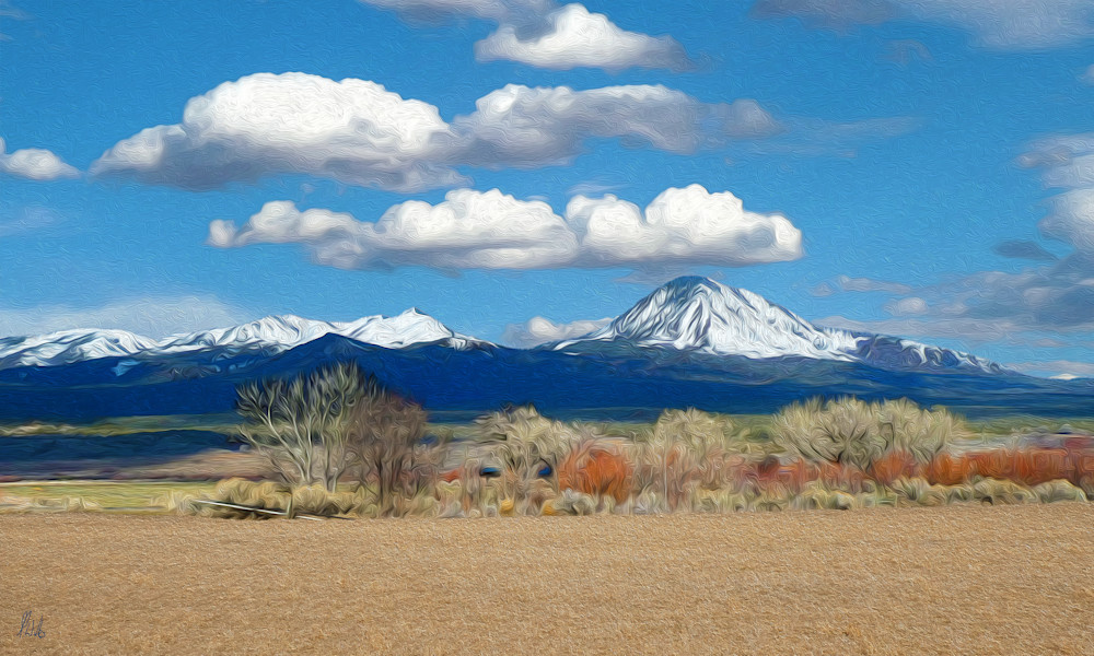 Ute Mountain print of photograph of Ute Mountain, southwest Colorado for sale as digital art by Maureen Wilks