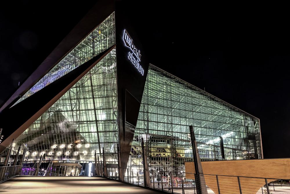 US Bank Stadium Closeup - Minneapolis Photos | William Drew Photography