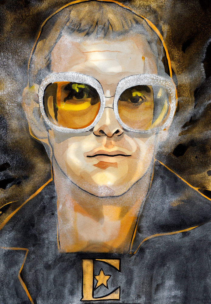 Elton John Art | William K. Stidham - heART Art