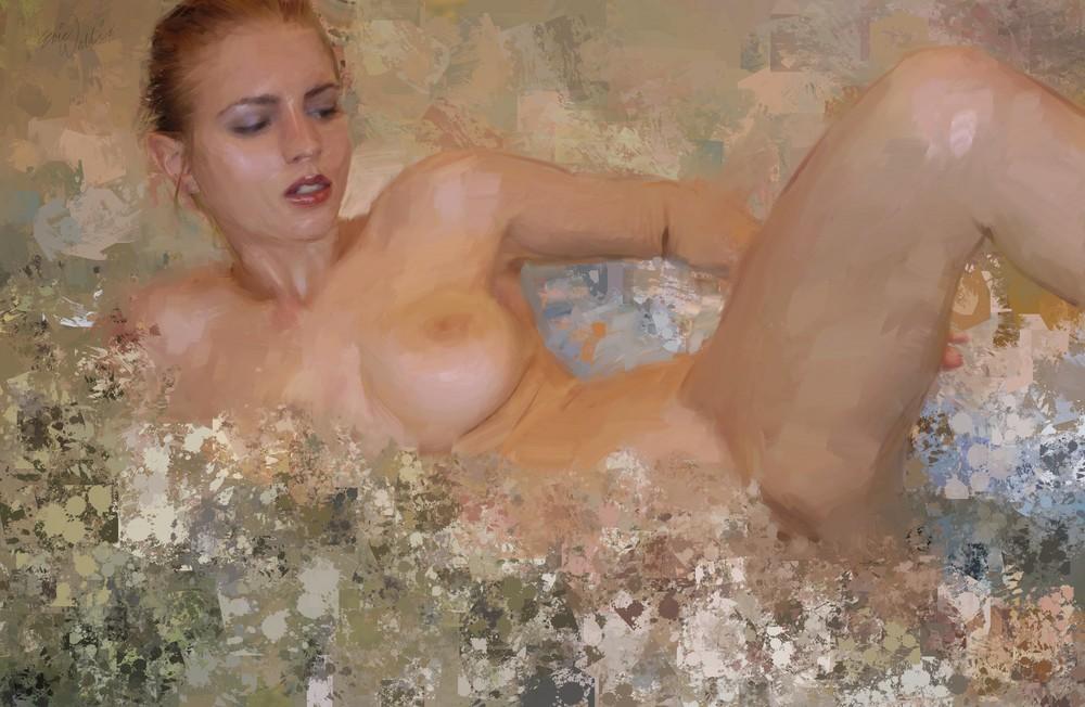 Hot Tub Bather by Eric Wallis.