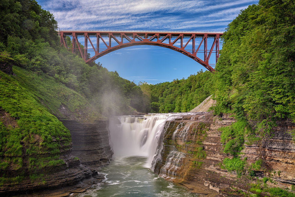 The Upper Falls at Letchworth State Park by Rick Berk