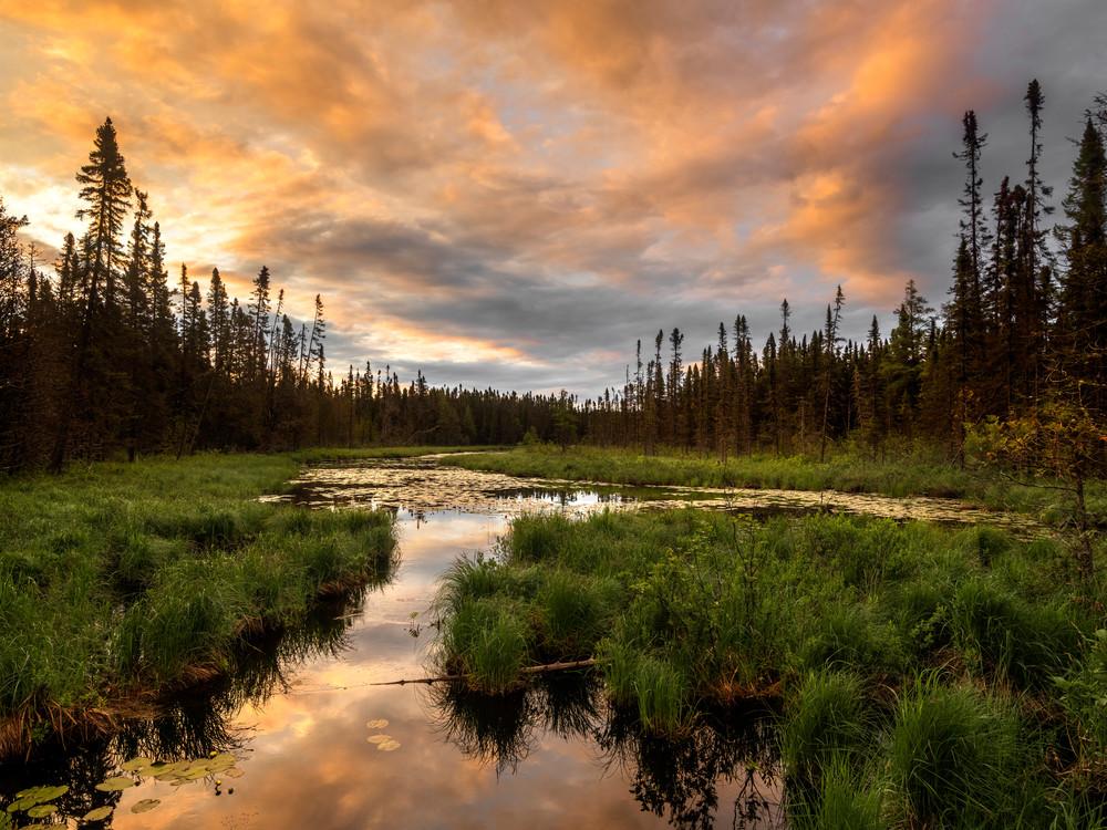 Sunrise near the BWCA Wilderness
