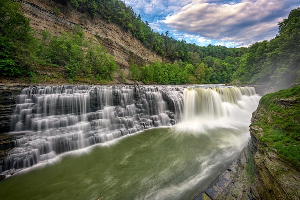 Lower Letchworth Falls by Rick Berk