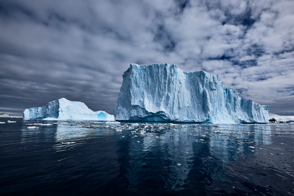 Monumental Icebergs at Cierva Cove, Antarctica.