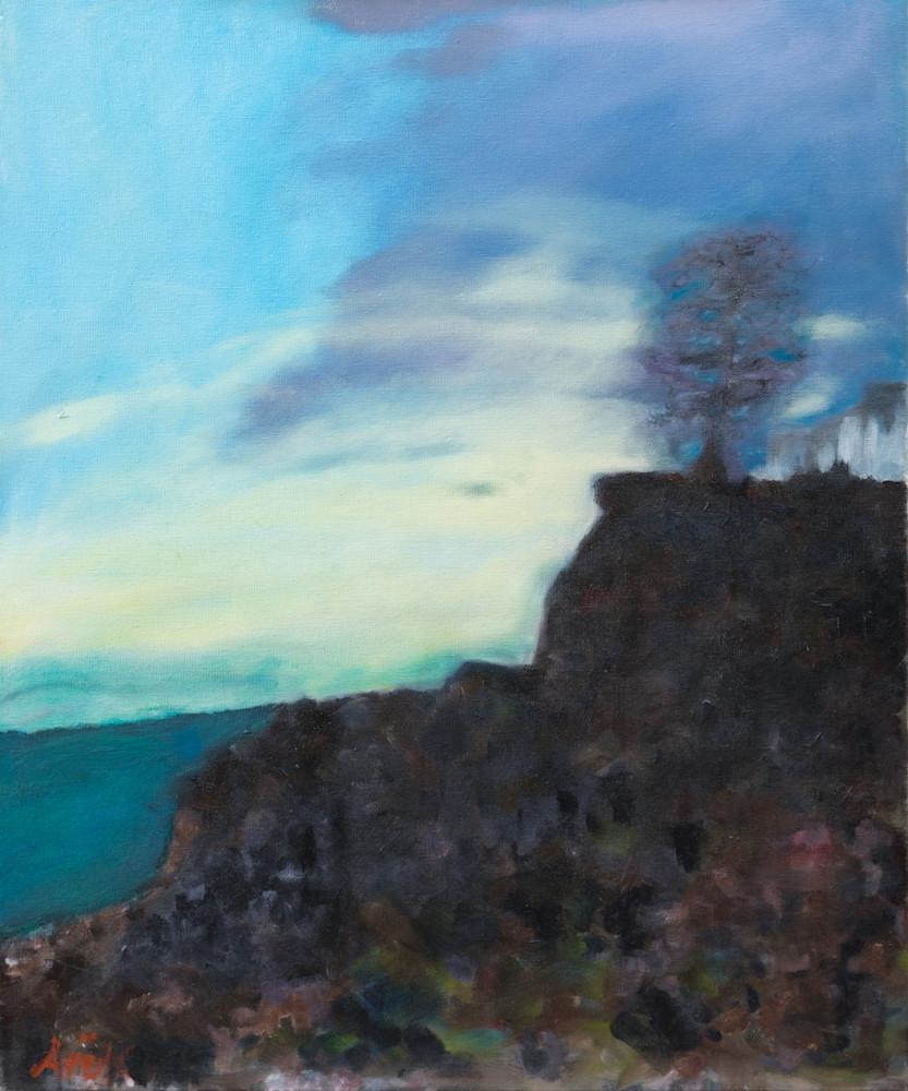 """Misty Sunset In Santa Cruz"" Art   Ane Howard Art Gallery"