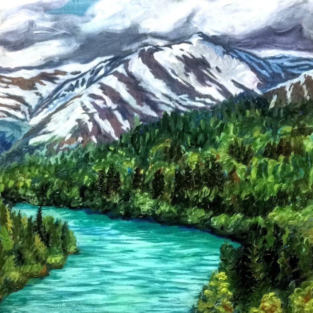 Kenai River Jewels - Alaska art print
