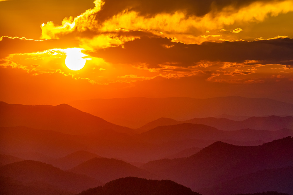 Sunset from Albert Mountain photography prints