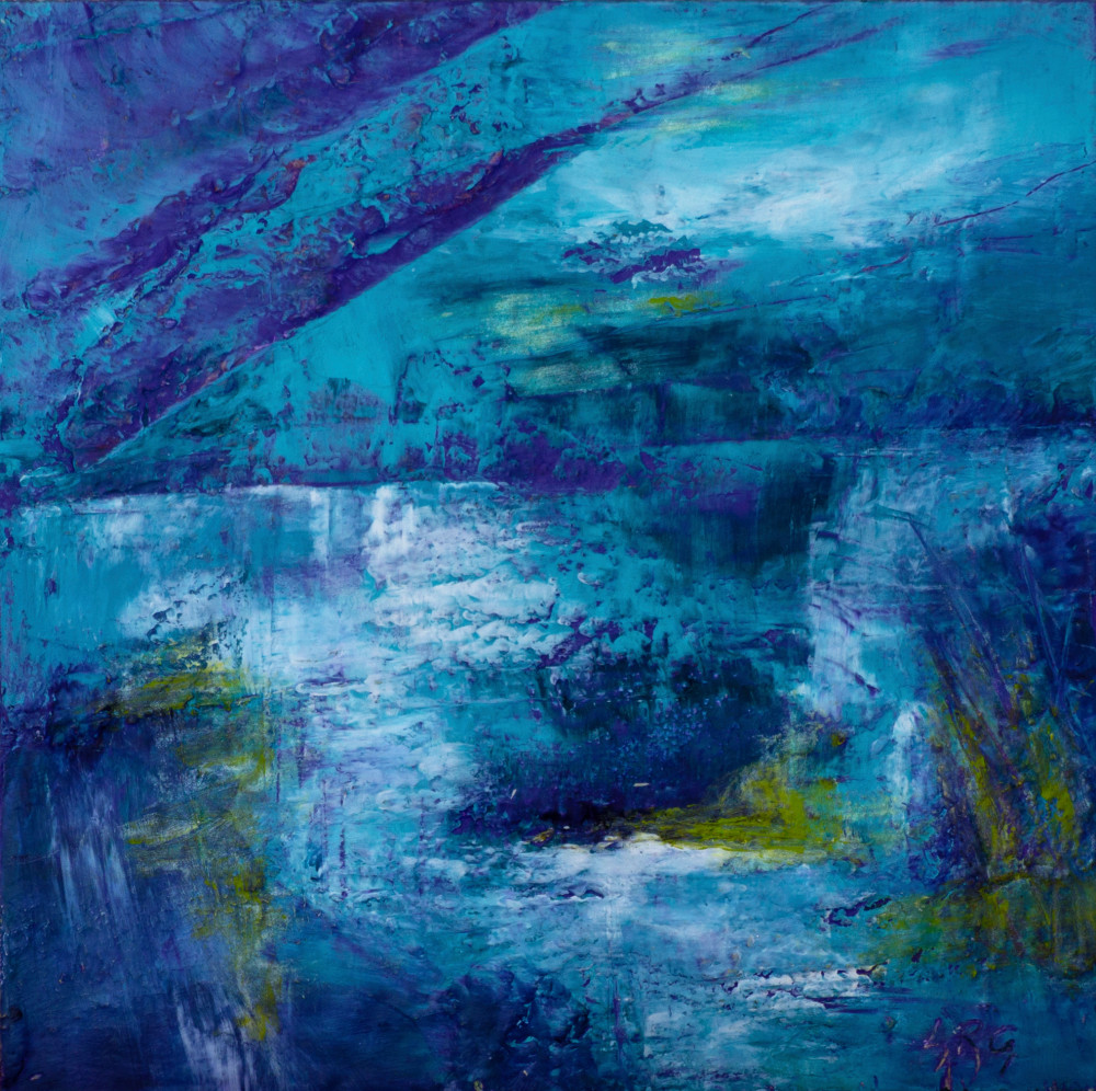 Midnight Sun | Abstract Painting by Lucy Ghelfi | For Sale