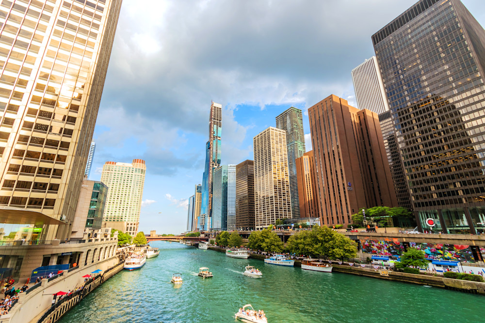 Chicago River at Michigan Avenue - Fotos de Chicago | William Drew