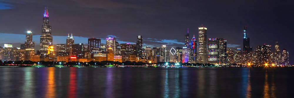 Land of Liberty Chicago - Chicago Skyline Framed Art | William Drew