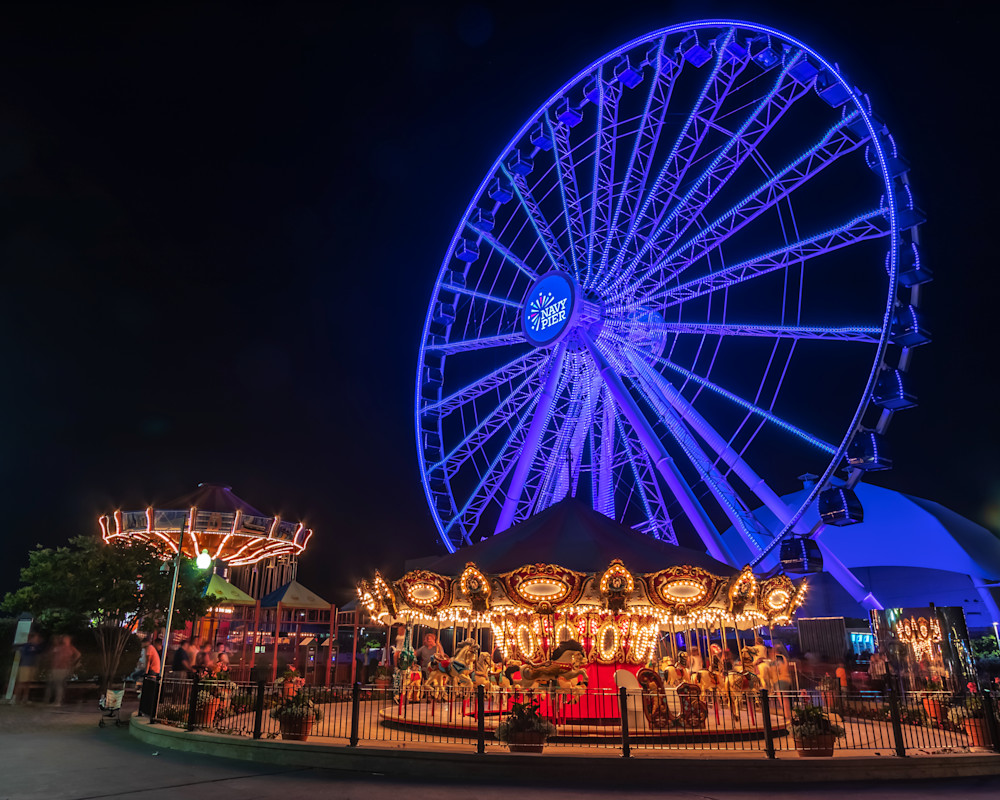 Navy Pier Amusement Rides - Chicago Pictures for Sale | William Drew Photography