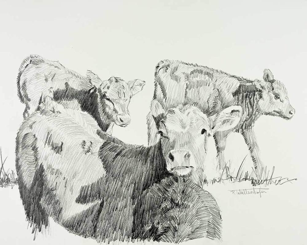 "Raymond Wattenhofer Open Edition Art ""Spring Trio"""