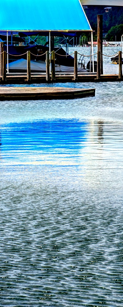 Blue Marina Canvas Reflection