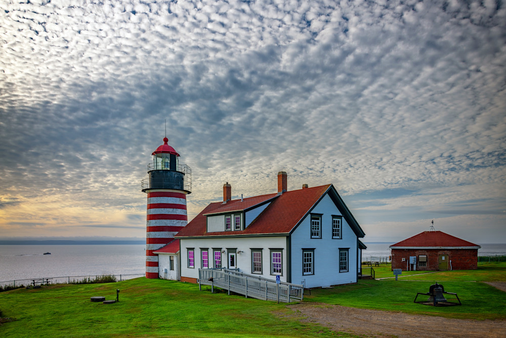 Summer Morning at West Quoddy Head Lighthouse by Rick Berk
