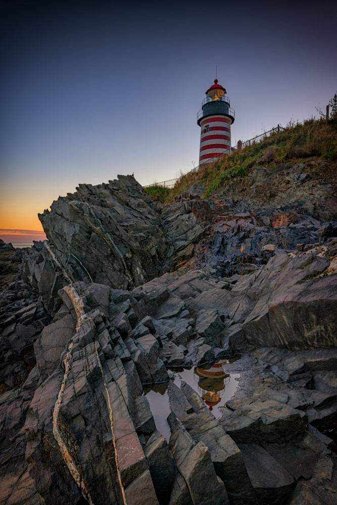 Dusk at West Quoddy Head Lighthouse by Rick Berk