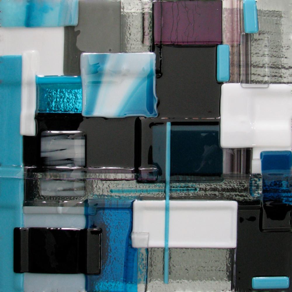 Blue Silver Left Art   Natalie Ventimiglia Studios