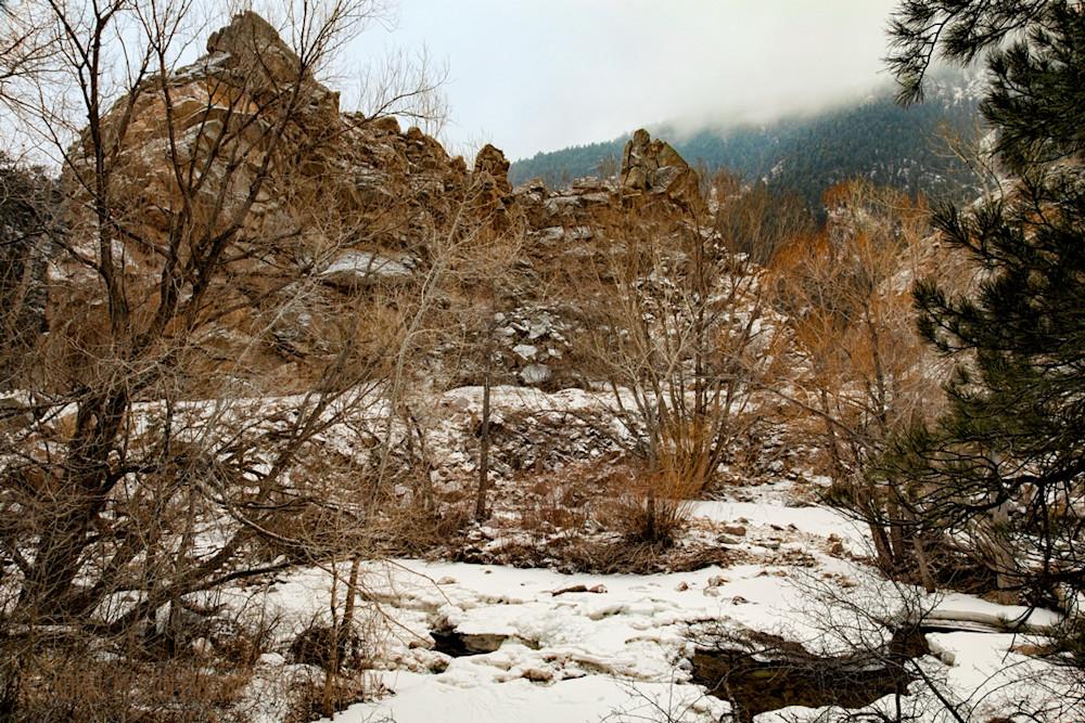 Winter Scene of Boulder Creek Photograph  9327    Boulder Creek Trail   Colorado Winter Photography    Koral Martin Fine Art Photography