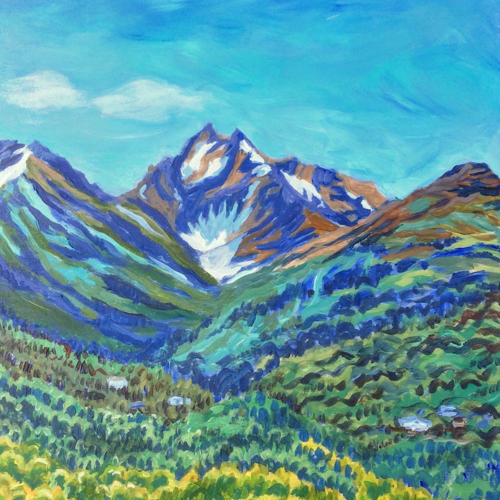 Kaladi Chugach Mountains Alaska art print
