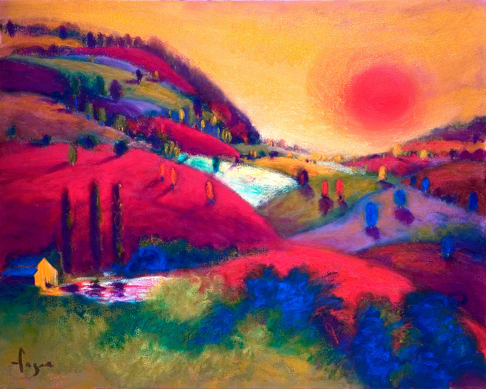 Valley of Love Painting Print by Dorothy Fagan
