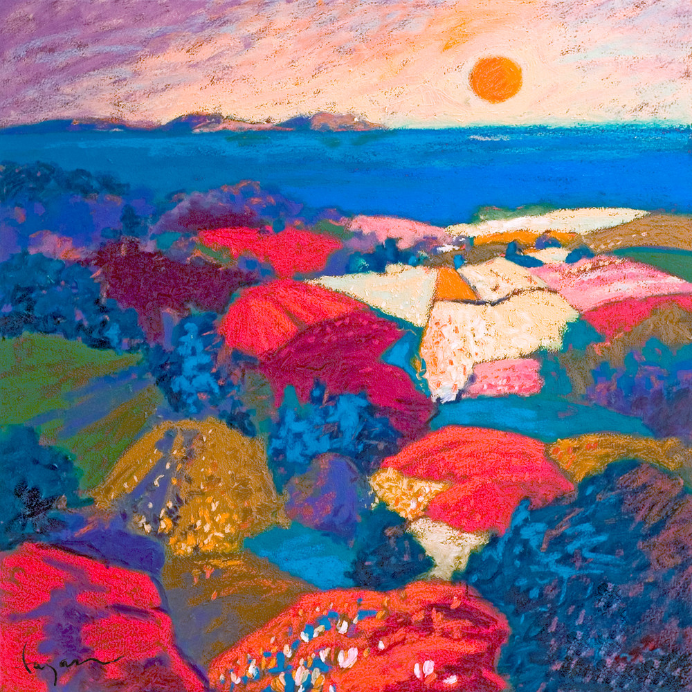 Colorful Landscape Painting, Fine Art Print by Dorothy Fagan
