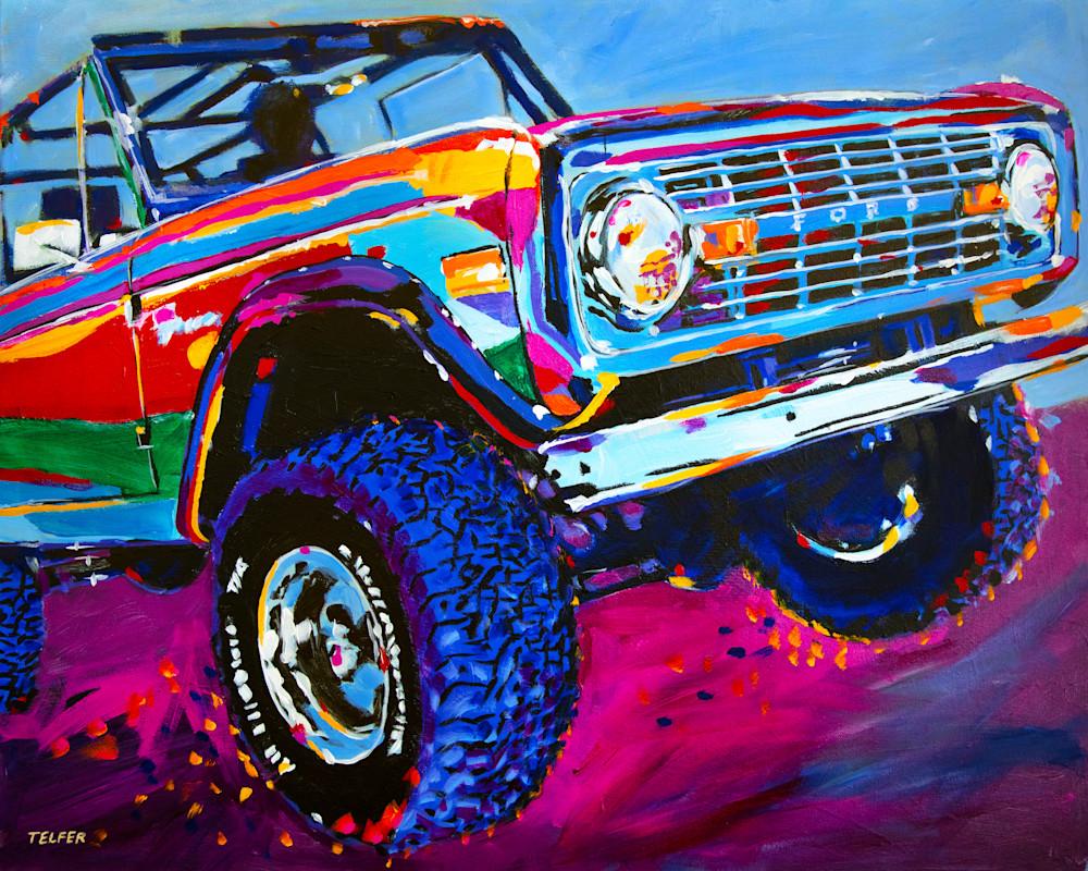 Bucking Bronco Art | Telfer Design, Inc.