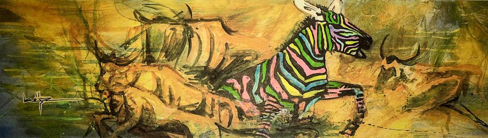 Zebra Neon Art | simon campbell