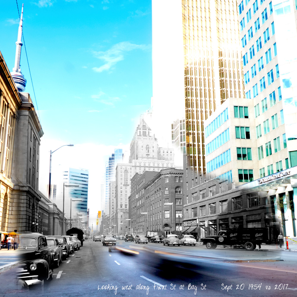 Past Present - Westbound on Front St