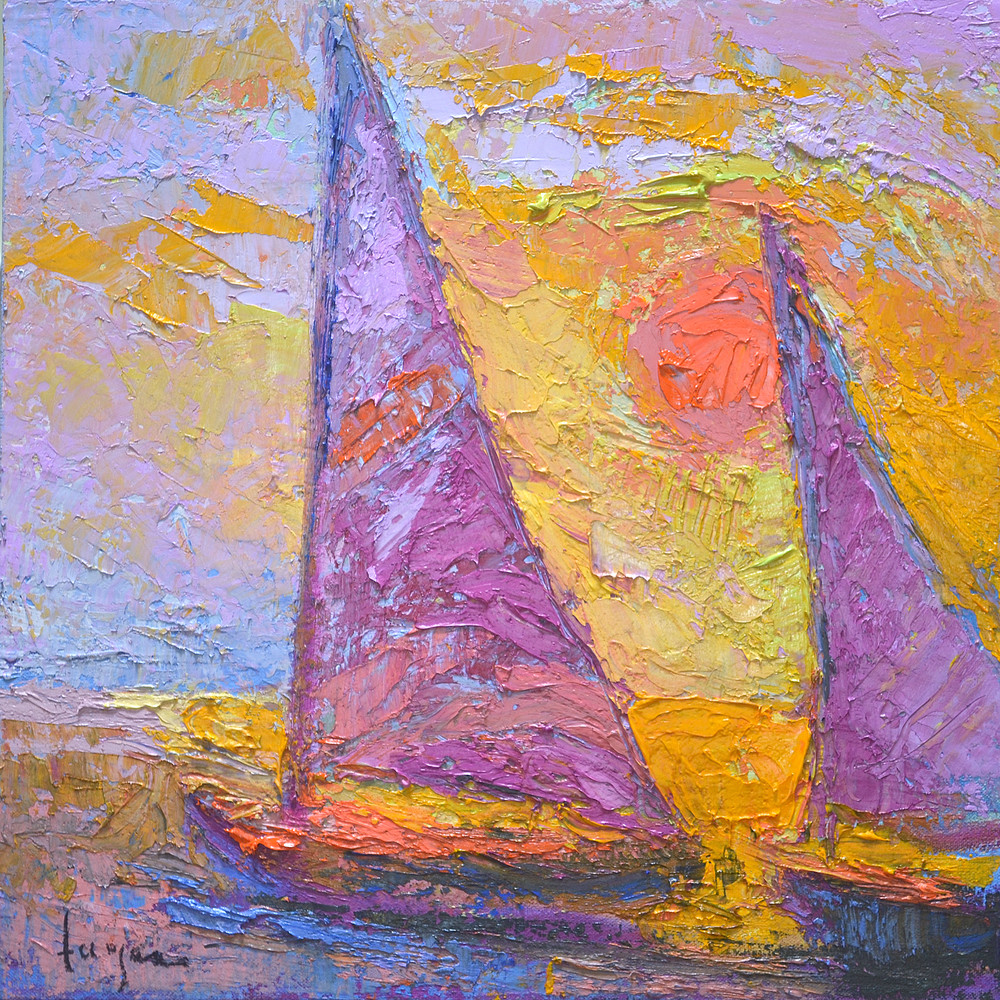 Sunset Sails Fine Art Print on Canvas by Dorothy Fagan