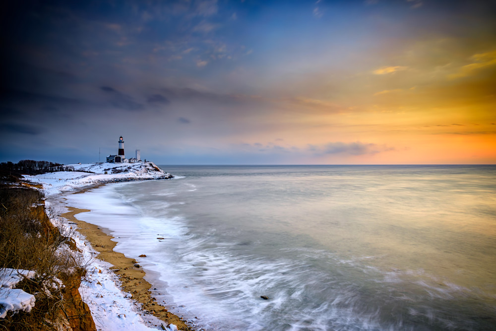 Winter Shoreline by Rick Berk