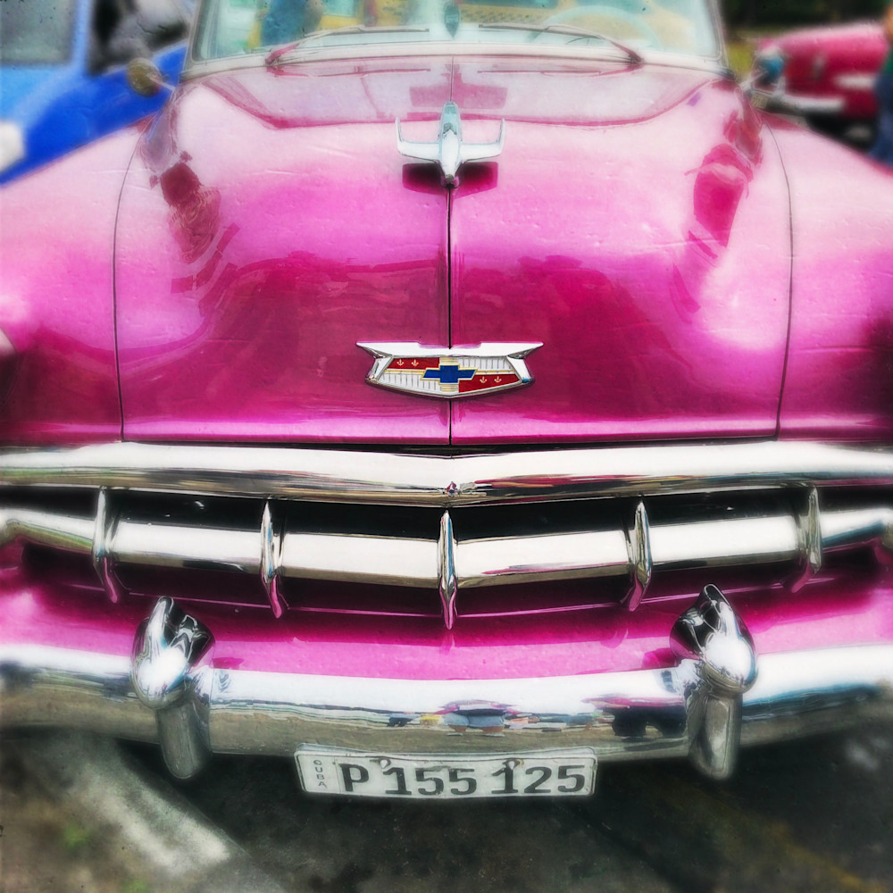 Pink Chevy Art   photographicsart