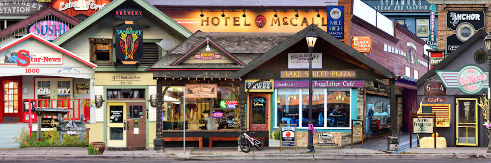 McCall Idaho historic hometown Street Level - Collage - Fine Art Prints on Metal, Canvas, Paper & More By Kevin Odette Photography