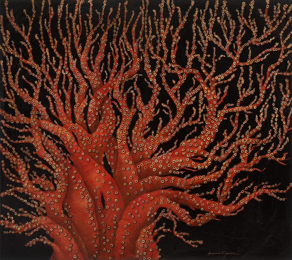 Red Coral Tree Art | Lindberghaus, Art by Dagi G.