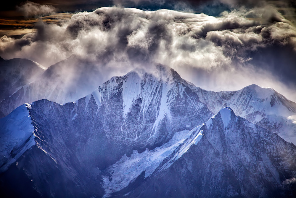 Building Clouds Over Mount Huntington by Rick Berk