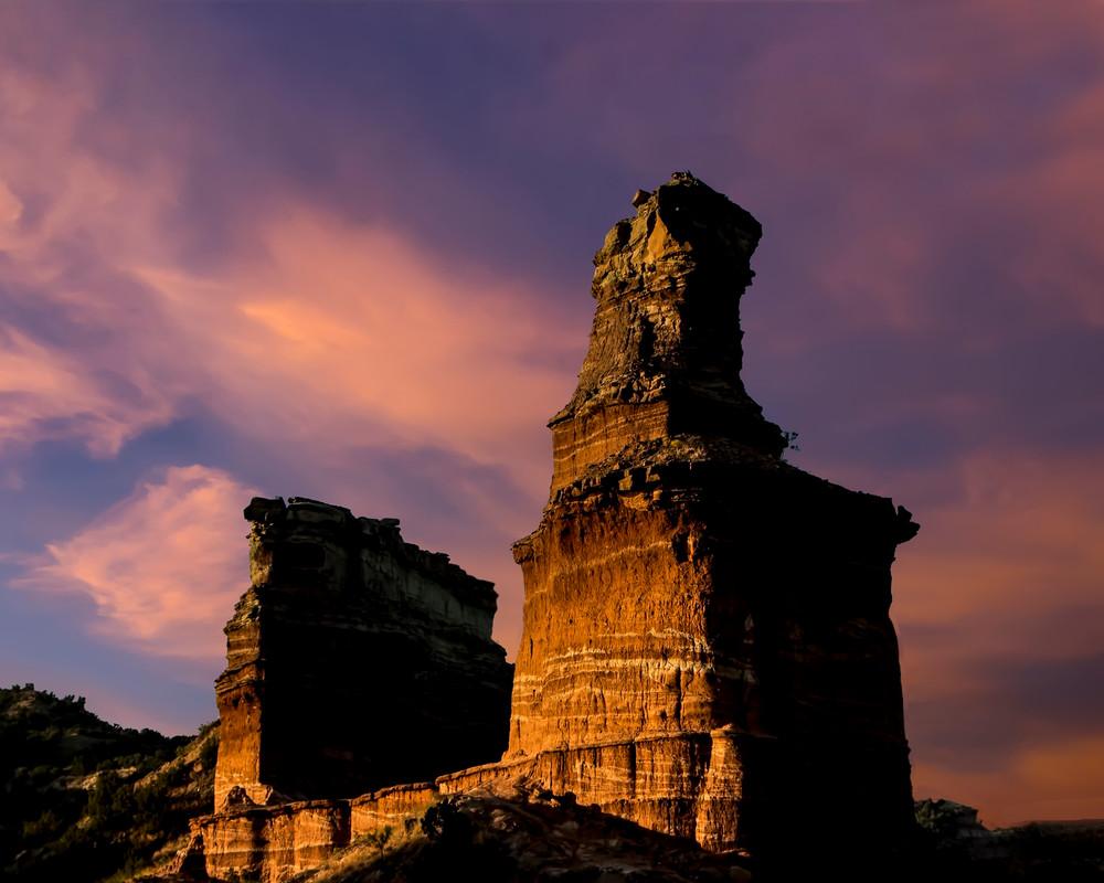 Lighthouse in Sunrise over Palo Duro Canyon