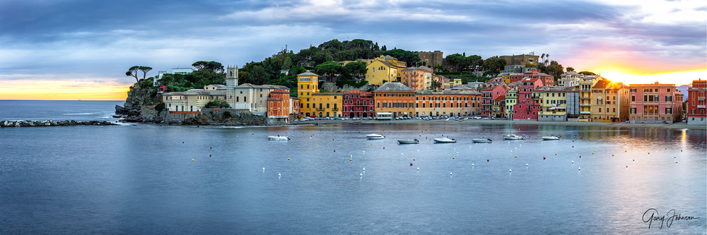 Sestri Lavente Sunset Photography Art | Gary Johnson Photography