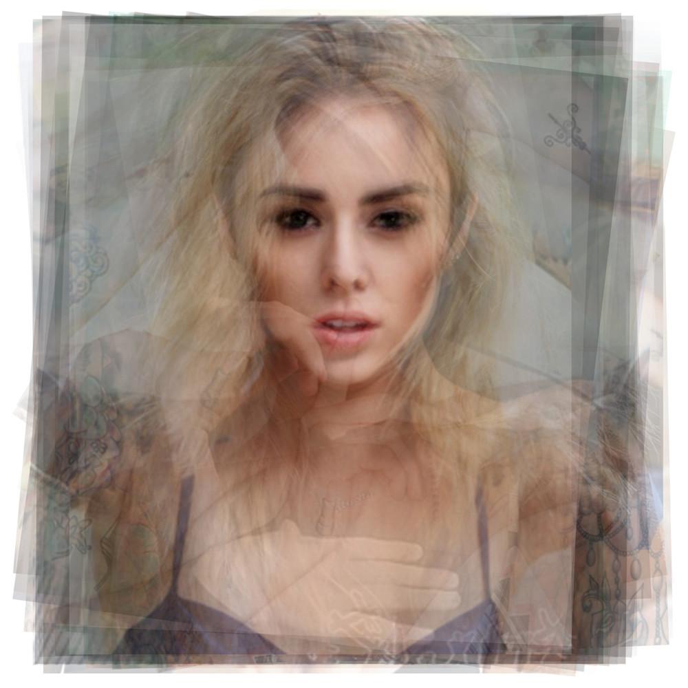 Overlay art – contemporary fine art prints of model Alysha Nett