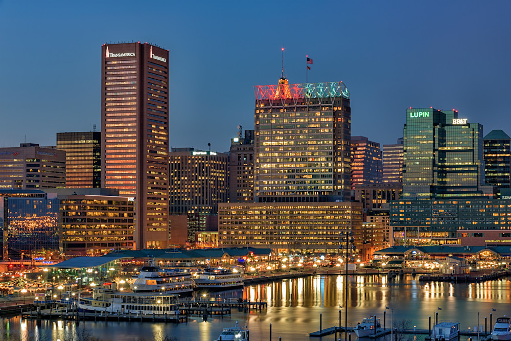 Dusk in the Inner Harbor | Shop Photography by Rick Berk