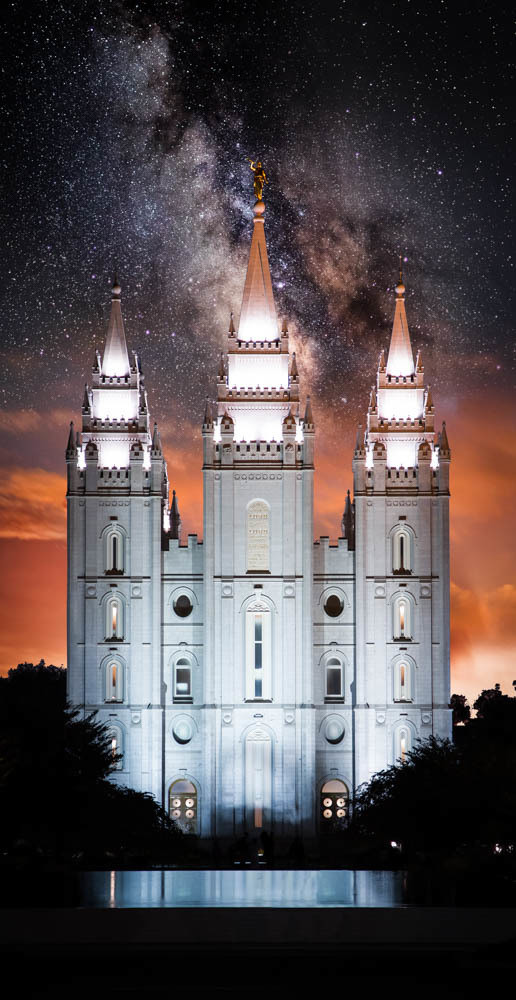 Salt Lake Temple Milky Way