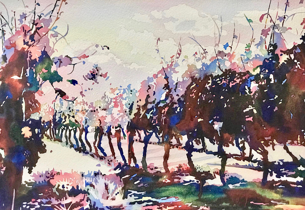 Wines From Vines, fresh, hip, modern painting.  Shop Prints/ Patrice Cameron Art.