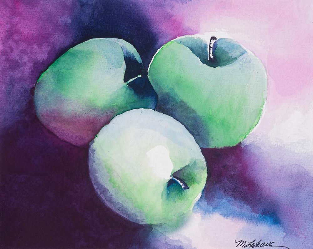 Green Apples Art   Mickey La Fave