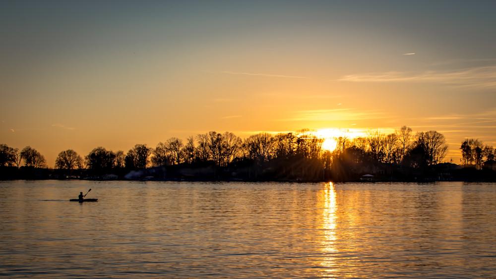Canoe on Lake Norman at Sunset | Shop Prints | Robert Shugarman Photography