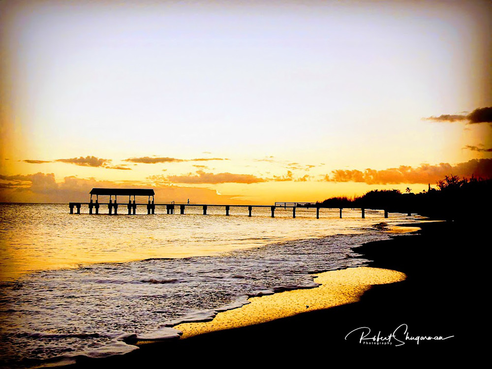 Sunset Over Waimea Pier | Shop Prints | Robert Shugarman Photography