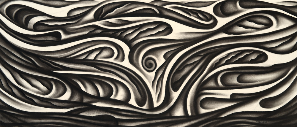 The Sway - Original charcoal drawing by Daniel Voelker available on paper, canvas, metal.