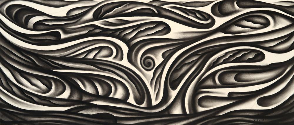 charcoal tree drawing