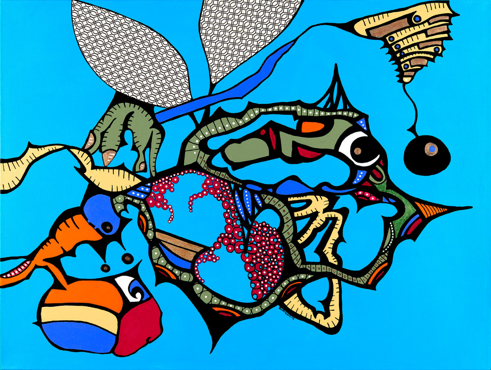 The Bumble Fish Art | Becka Watkins Art