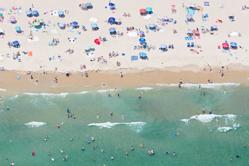 """Over Weekapaug Beach"" Westerly RI Aerial Large Format Photograph"