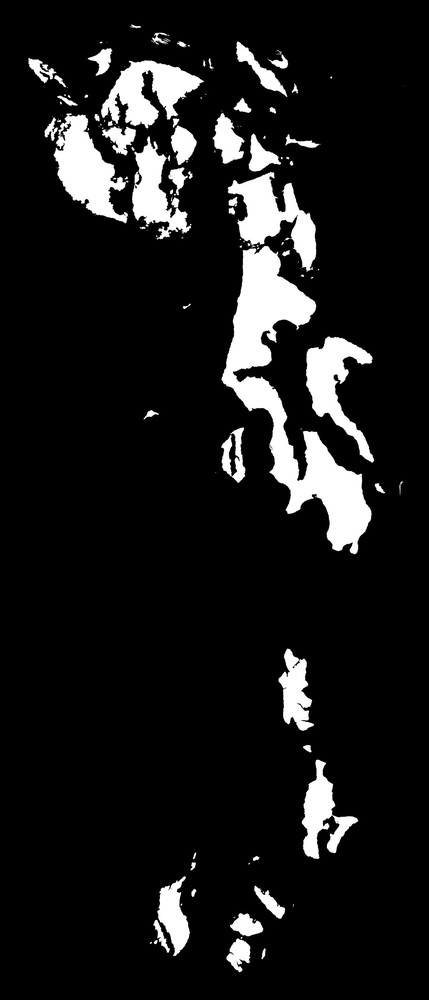 Islands of the Puget Sound - White on Black