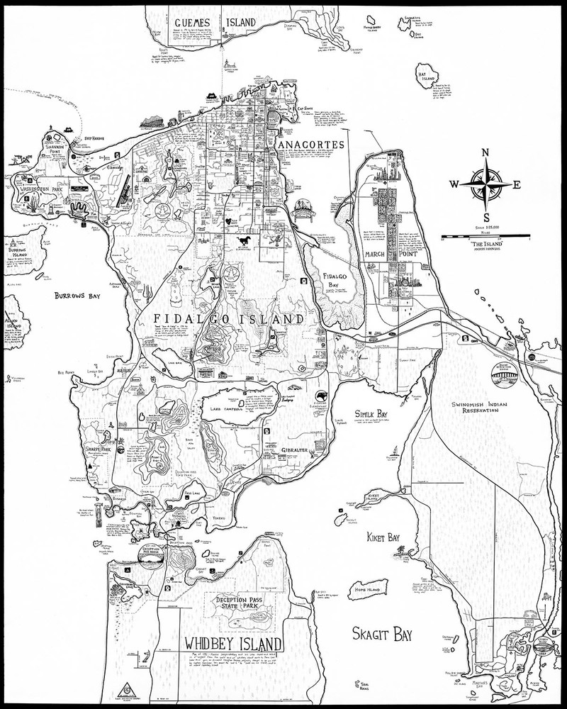 Fidalgo Island Map - Anacortes Washington