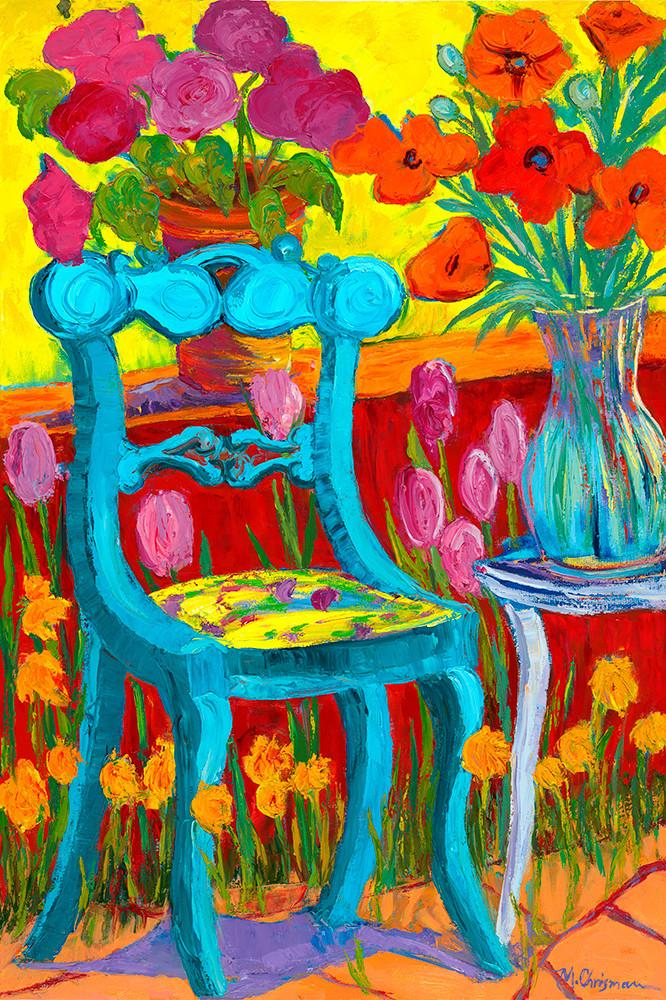 Blue Garden Chair Art | Fine Art New Mexico
